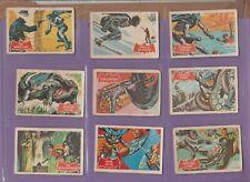 Batman Red Cowl Bat Logo Version  A&BC Gum Full set of 1A to 44A cards