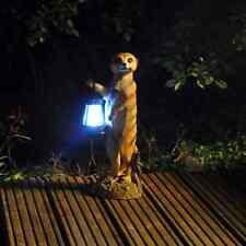 Mikey The Meerkat with Lantern Solar Powered Decorative Garden Ornament Meerkat