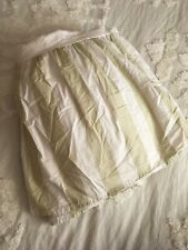 """Simply Shabby Chic Queen Cabana Green Stripe Bed Skirt 14"""" Drop 100% Cotton"""