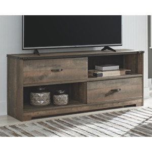 Trinell Casual Large TV Stand, Brown