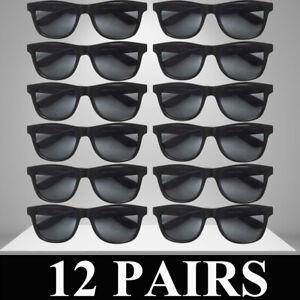 Mens Womens Sunglasses Classic Retro Unisex Wayfar Style Bulk 12 PACK Sunglass