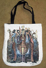 Old School Jazz Music Miles Davis Jacquard Tapest Tote Bag 16x17 Made in US