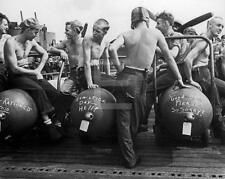 WW2 1943 US Navy Sailors Personalized Bombs WWII Ship Photo FL107