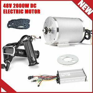 48V 2000W DC Motor For Electric Vehicle With Brushless Controller Throttle LCD