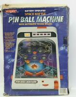 Vintage Blue- Box Toys Space Battle Pinball Machine Battery Operated Table-Top