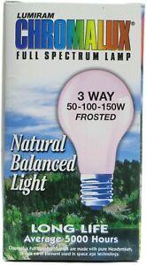 3-Way Frosted 50-100-150 Watt Light Bulb by Chromalux, 1 piece