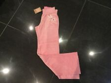 NWT Juicy Couture New & Genuine Girls Age 8 Pink Velour Tracksuit Pants & Logo