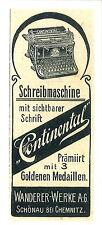 Original-Anzeige (57) Werbung Reklame Schreibmaschinen: Continental, 1906