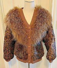 Alpaca/Leopard print coat