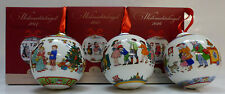 Hutschenreuther Porzellankugeln / Weihnachtskugeln Set: Motive  2014, 2015, 2016