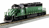 KATO 376604 HO SCALE EMD SD40-2 MID BN #7036 37-6604 NEW DC,DCC READY