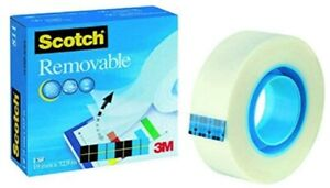 Scotch Removable Magic Tape 1 Roll 19 mm x 32.9 m - Repositionable Tape for &