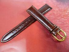 17 mm BRAUN UHRENARMBAND ARMBAND GLATT LEDER UHRENBAND LEDER 1789
