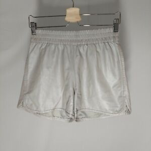 My Tribe Shorts Womens Small Gray Leather Pull-on Waist Athleisure Runner*Flaw
