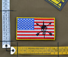 "Ricamata / Embroidered Patch ""ODA USA Flag"" with VELCRO® brand hook"