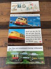 4 Schilder Abteilwerbung der Deutschen Bundesbahn
