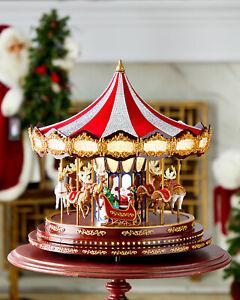New Swarovski Mr. Christmas Grand Carousel - Hand Painted - 100 LEDs 20 Carols