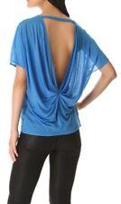 HELMUT LANG Blue Polished Slub Jersey Top M/L NWT