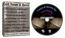 5999 Card Verses And Quotes + Decoupage For Cards And Craft Projects DVD Disk