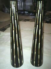 Tall tribal vases.