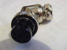 Ángulo Recto 7 Pin conector de micrófono 8W Cable de línea Ham Radio CB Etc Zócalo MUL-7AS EK14