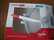 Norwegian Boeing 737-800 W LN-DYC 1:500  Herpa Wings 529280
