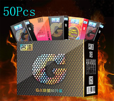 Lots 50Pcs Men Condoms Latex Condoms Top Quality G Spot Condom Male Big Particle