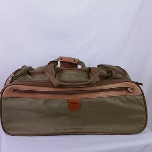 Vintage Hartmann Luggage Duffle Bag Nylon Travel Gym Leather Trim Backpack Sport