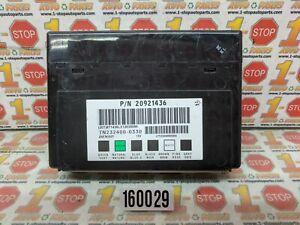 2006-2013 CHEVROLET IMPALA BODY CONTROL MODULE BCU BCM 20921436 OEM