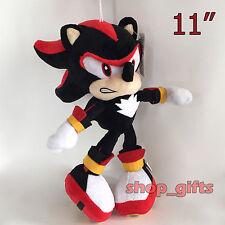 """Sonic Shadow the Hedgehog Plush Soft Toy Stuffed Animal Teddy Doll 11"""""""