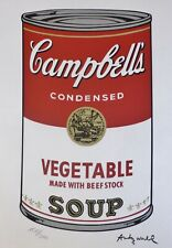ANDY WARHOL CAMPBELL'S SOUP I VEGETABLE SIGNED + HAND NUMBERED LITHOGRAPH