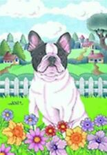 Outdoor Garden Flag French Bulldog Dog Breed Spring Colors Small Flag made Usa