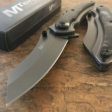 "8"" MTECH TITANIUM COATED SPRING ASSISTED TACTICAL FOLDING KNIFE Blade Open NEW"