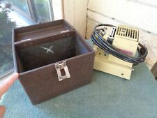 VINTAGE STANDARD MODEL 500N STILL PICTURE PROJECTOR WITH HARDSHELL CARRY CASE