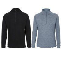 Trespass Mens 1/2 Zip Long Sleeve Base Layer Top 100% Merino Wool Seeker