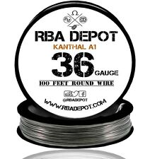 RBA Depot Kanthal A1 Wire 36 Gauge AWG 100ft Roll .127mm 33.4 ohms/ft Resistance
