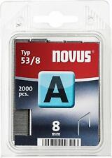 NOVUS Tackerklammern Feindrahtklammern Typ 53/8 | 8mm | Superhart | 2000 Stück