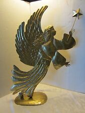 """Golden ANGEL sheet METAL WALL Floor Department 56 ART SCULPTURE x-mas 33.5"""" H"""