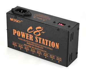 Mosky C8POWER Guitar Effect Power Supply Station 8 Isolated DC Outputs 4-18V