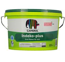 (11,20€/L) Caparol Indeko Plus 2,5ltr. weiss Wandfarbe Innenfarbe