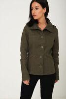 Ladies Womens KHAKI MILITARY STYLE Cargo Jackets - Size 10 12 14 16 18