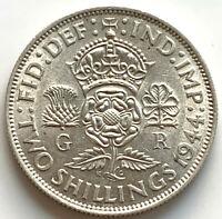1944 GEORGE VI SILVER FLORIN COIN