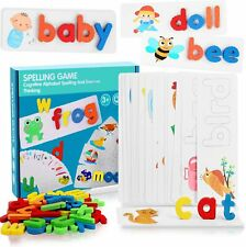 VWMYQ Educational Toys Spelling Games See and Spell Learning Toys Matching Le...