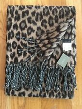 NWT J Crew Italian Wool Blend Scarf Leopard #H3793 Made in Italy  Retail