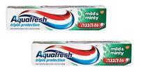 2X Aquafresh Mild & Minty Toothpaste 24 Hours Triple Protection 100 gr 3.5 oz