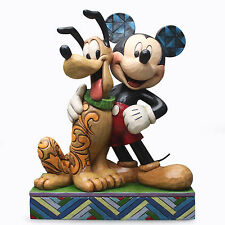Jim Shore Disney Traditions Mickey Mouse and Pluto Best Pals 4048656 NEW NIB Dog