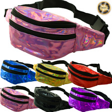 Fashion Iridescent Shinning Fanny Pack Shiny Waist Bag Hip Purse Travel Bag Lot