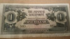 JAPANESE GOVERNMENT WW2 OCCUPATION CURRENCY NOTE 1 DOLLAR MALAYA UNCIRCULATED