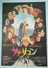 Fellini Satyricon Japan movie poster original B2 1970 Federico Fellini Rare
