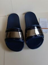 Crocs.sloane metalblocked slide navy Size 6